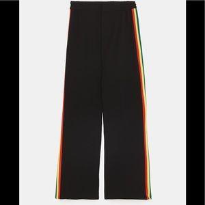 4b9bc014 Zara Pants - Zara Flowy side Striped Rainbow Pants